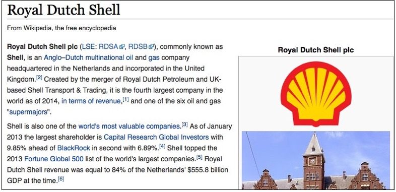 CHAPTER 21: Wikipedia: The sanitization of Shell's history